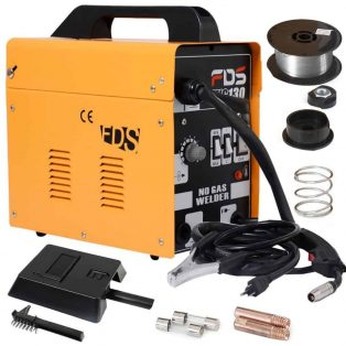 Goplus%C2%AE MIG 130 Welder Flux Core Wire Automatic Feed Welding Machine the best wire welder list guide and review campbell hausfeld 70 amp arc welder wiring diagram at eliteediting.co